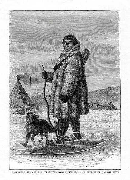 Reindeer Sledding「'Samoyede Travelling on Snow-Shoes', Russia, 1877.」:写真・画像(5)[壁紙.com]