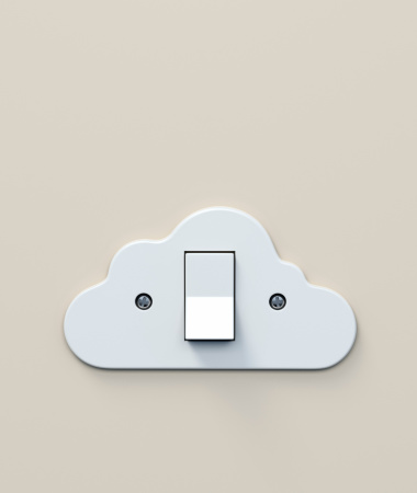 Light Switch「White plastic light switch in the shape of a cloud」:スマホ壁紙(4)