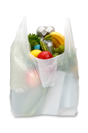 Plastic「A white plastic grocery bag filled with produce」:スマホ壁紙(12)