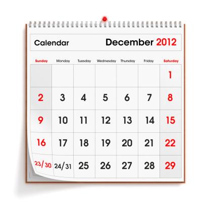 月「壁掛けカレンダー 2012 年 12 月」:スマホ壁紙(4)