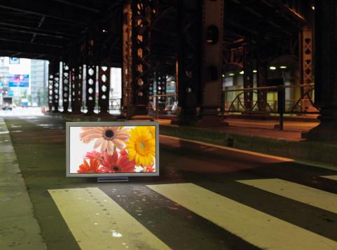 Dividing Line - Road Marking「Flat TV placed on」:スマホ壁紙(15)