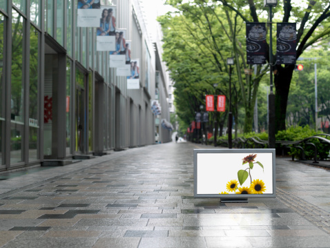 Television Show「Flat TV placed on Omotesando street」:スマホ壁紙(9)