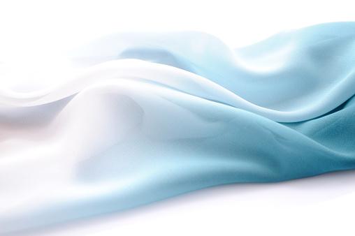 クローズアップ「グラデーションシルクからブルー、ホワイトへ」:スマホ壁紙(9)