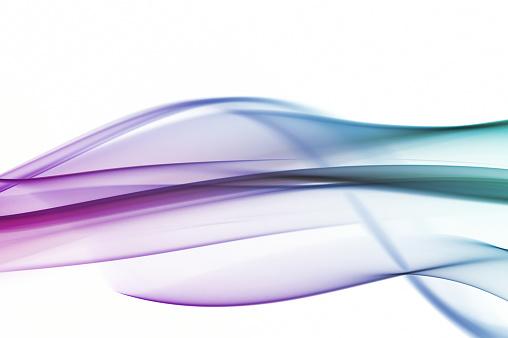 波「シルキーなスモークから紫のグラデーションにグリーン」:スマホ壁紙(9)
