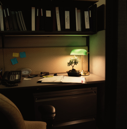 Desk Lamp「Bonsai in Office」:スマホ壁紙(9)