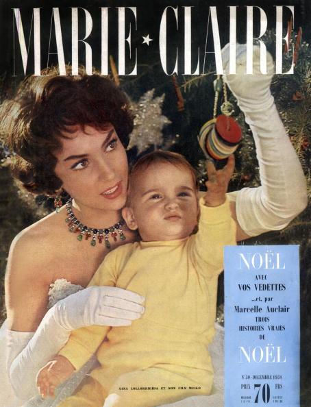 Marie Claire Magazine「Cover of french magazine Marie-Claire december 1958 : Gina Lollobrigida and her son Milko」:写真・画像(16)[壁紙.com]