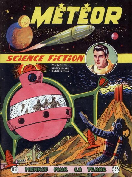 Futuristic「Cover of french magazine Meteor (december 1955) with science fiction cartoons」:写真・画像(14)[壁紙.com]
