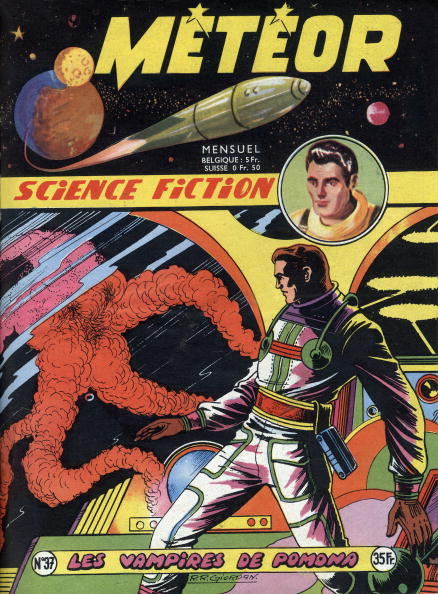 Cartoon「Cover of french magazine Meteor (june 1956) with science fiction cartoons」:写真・画像(16)[壁紙.com]