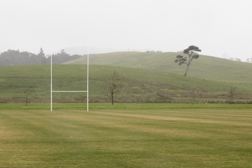 Sports Target「Rugby posts on empty rugby field」:スマホ壁紙(1)