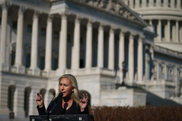 Conference - Event「Rep. Majorie Taylor Greene Holds Press Conference After Losing Cmte Positions」:写真・画像(10)[壁紙.com]