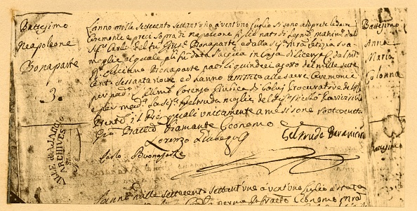 Document「Napoleons Birth Certificate」:写真・画像(8)[壁紙.com]
