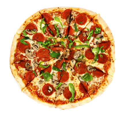 Green Bell Pepper「Pizza from the top - Deluxe」:スマホ壁紙(1)
