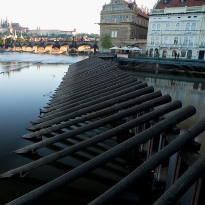 Charles Bridge「Buildings at a waterfront, Prague, Czech Republic」:スマホ壁紙(0)