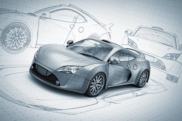 sketch supercar:スマホ壁紙(壁紙.com)
