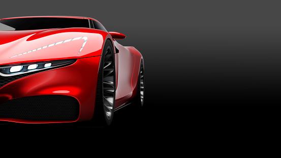 Sports Car「red sportscar studio shot」:スマホ壁紙(6)