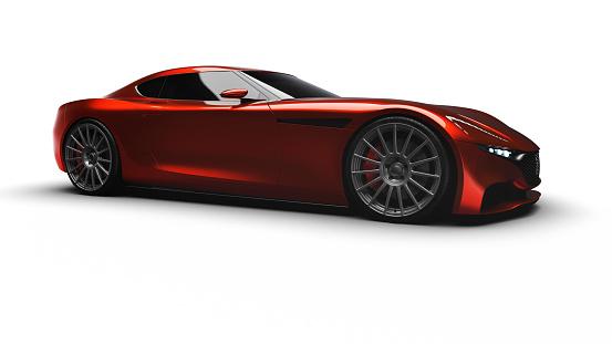 Sports Car「red sportscar studio shot」:スマホ壁紙(8)