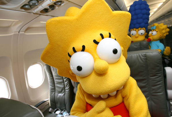 "Passenger Cabin「Jet Blue Unveils Aircraft In Celebration Of ""The Simpsons"" Movie Release」:写真・画像(12)[壁紙.com]"