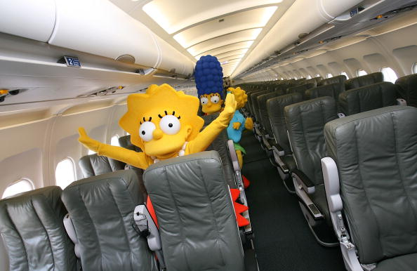 "Passenger Cabin「Jet Blue Unveils Aircraft In Celebration Of ""The Simpsons"" Movie Release」:写真・画像(8)[壁紙.com]"