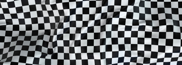 Sports Flag「Large checkered cloth fluttering in the wind」:スマホ壁紙(0)