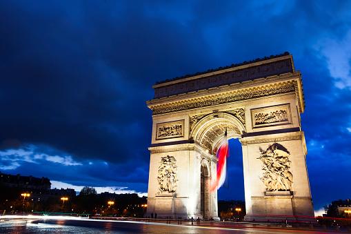Arc de Triomphe - Paris「Arc De Triomphe Paris at night」:スマホ壁紙(17)