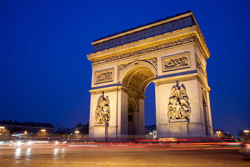 Arc de Triomphe - Paris「Arc de triomphe at night」:スマホ壁紙(6)