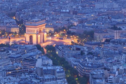 Arc de Triomphe - Paris「Arc de Triomphe at Night」:スマホ壁紙(7)