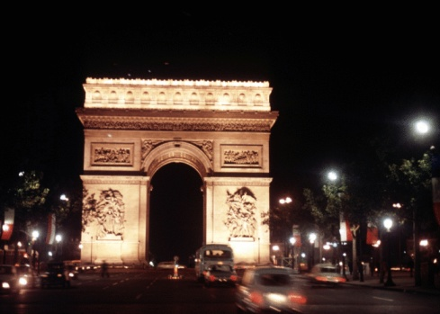 Arc de Triomphe - Paris「Arc de Triomphe at night」:スマホ壁紙(1)