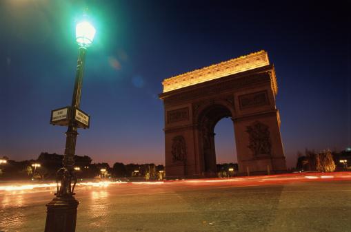 Arc de Triomphe - Paris「Arc de Triomphe at Night」:スマホ壁紙(16)
