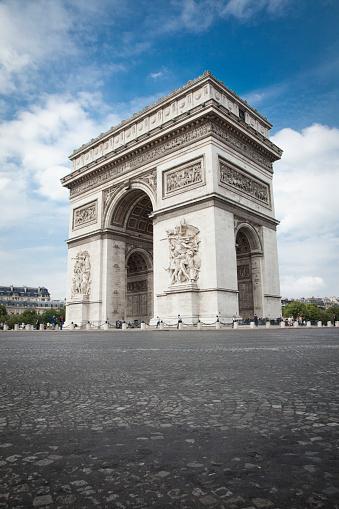 Arc de Triomphe - Paris「Arc de Triomphe, Champs Elysees, Paris, France」:スマホ壁紙(13)