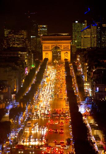 Arc de Triomphe - Paris「Arc De Triomhe at Christrmas Paris from Above.」:スマホ壁紙(16)