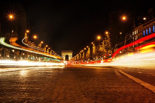 Arc de Triomphe - Paris「Arc de Triomphe at Night, Paris」:スマホ壁紙(12)
