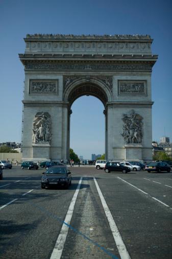 Arc de Triomphe - Paris「Arc de Triomphe in Paris, France」:スマホ壁紙(6)