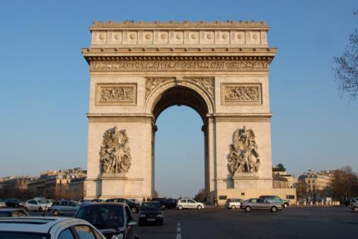 Arc de Triomphe - Paris「Arc de Triomphe in Paris , France」:スマホ壁紙(8)