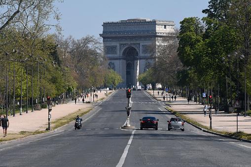 Arc de Triomphe - Paris「Arc de Triomphe in Paris, France」:スマホ壁紙(2)