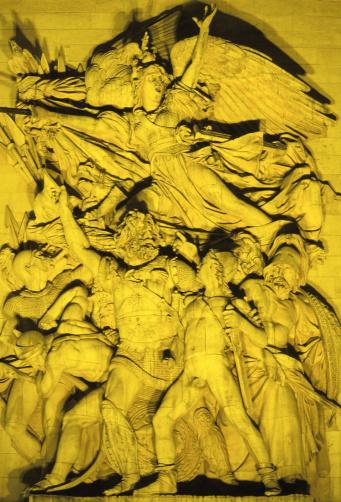 Architectural Feature「Arc de Triomphe, relief sculpture - Paris, France」:スマホ壁紙(3)