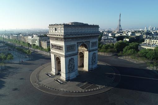 Quarantine「Arc de Triomphe and Place Charles de Gaulle in Paris, France」:スマホ壁紙(17)