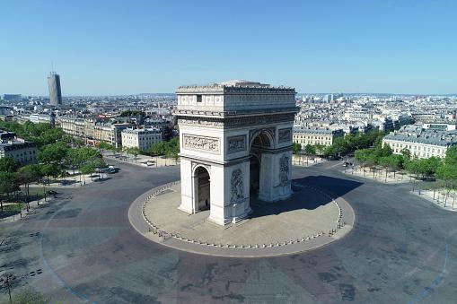 Arc de Triomphe - Paris「Arc de Triomphe and Place Charles de Gaulle, in Paris, France」:スマホ壁紙(10)