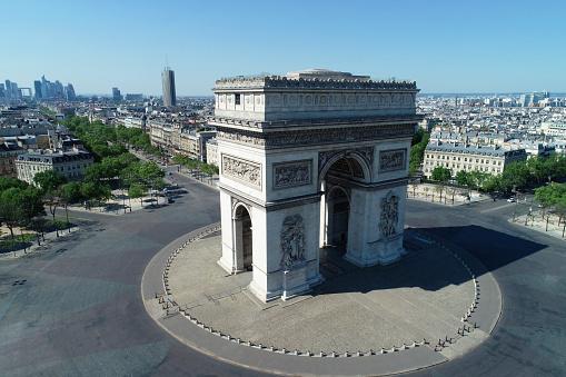 Arc de Triomphe - Paris「Arc de Triomphe and Place Charles de Gaulle, in Paris, France」:スマホ壁紙(12)