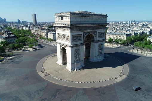 Arc de Triomphe - Paris「Arc de Triomphe and Place Charles de Gaulle, in Paris, France」:スマホ壁紙(11)