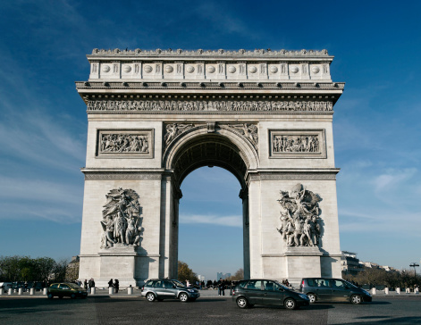 Arc de Triomphe - Paris「Arc de Triomphe in the daytime」:スマホ壁紙(8)