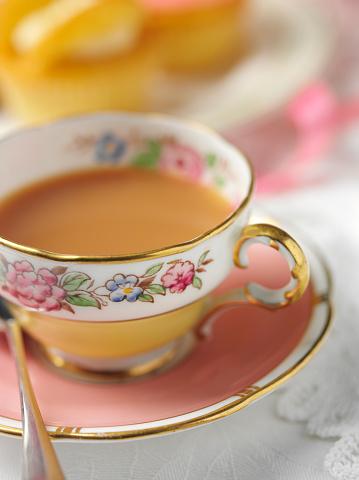 Tea「ビンテージカップとソーサー」:スマホ壁紙(19)