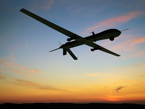 無人航空機「無人車(UAV)空から見た」:スマホ壁紙(1)