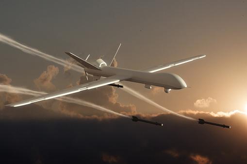 無人航空機「空から見た UAV 無人車(ドローンの攻撃)」:スマホ壁紙(3)