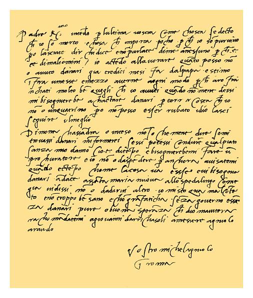 Writing「Michelangelo Buonarroti, 1508.」:写真・画像(1)[壁紙.com]