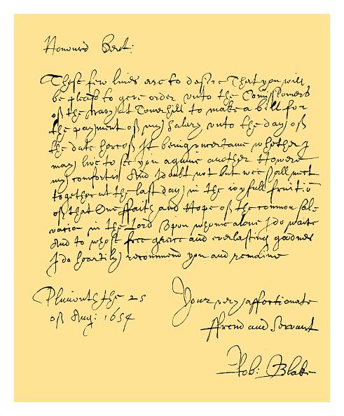 問う「Autograph: Admiral Robert Blake, 1654.」:写真・画像(7)[壁紙.com]