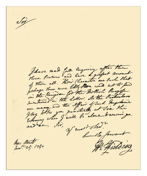 Writing「Autograph: Henry Fielding, 1750」:写真・画像(4)[壁紙.com]