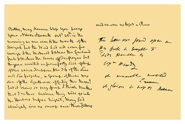 Writing「Autograph: Horatio, Viscount Nelson, 1805.」:写真・画像(10)[壁紙.com]