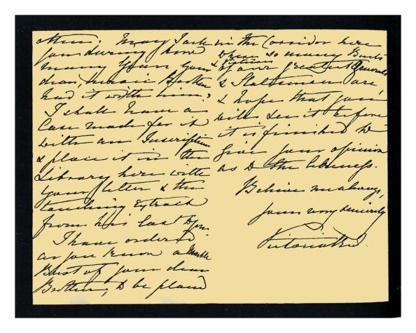 Writing「Autograph: Queen Victoria, 1885.」:写真・画像(8)[壁紙.com]