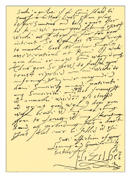 Handwriting「Autograph: Letter from Queen Elizabeth I.」:写真・画像(10)[壁紙.com]