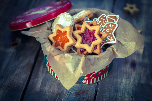 Cookie「Decorated Holiday Christmas Cookies And Biscuits」:スマホ壁紙(10)